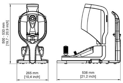Technische Zeichnung des OCULUS PARK 1
