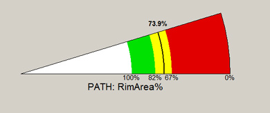 Predicting the relative area of the neuroretinal rim with the OCULUS perimetry software: PATH